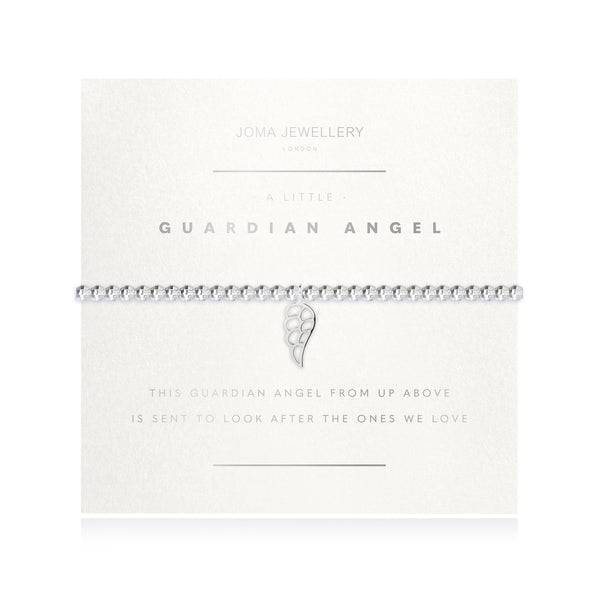 Facetted A Little - Guardian Angel - Silver - 17.5cm stretch