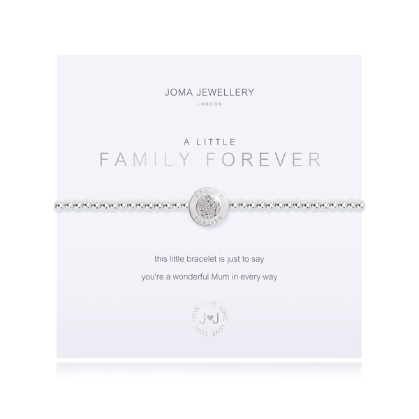 A Little - Family Forever - Silver- 17.5cm stretch