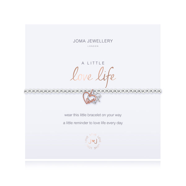 A Little - Love Life - Silver/ Rose Gold- 17.5cm stretch