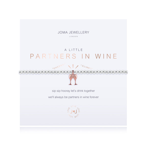 A Little - Partners In Wine - Silver/Rose Gold- 17.5cm stretch