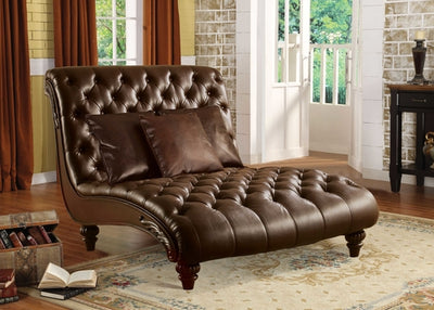 "52"" X 70"" X 45"" 2-Tone Brown PU Upholstery Wood - AlternativeRoute"