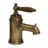 Fountainhaus Single Hole/Single Lever Lavatory Faucet with Cherry Wood Handle and Pop-up Waste - AlternativeRoute