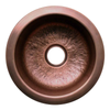 Copperhaus Large Round Drop-in/Undermount Prep Sink with a Hammered Texture - AlternativeRoute