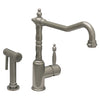 Jem Collection Single Lever Handle Faucet with Traditional Swivel Spout and Solid Brass Side Spray - AlternativeRoute