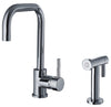 Jem Collection Single Hole/Single Lever Handle Faucet with Swivel Spout and a Solid Brass Side Spray - AlternativeRoute