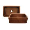 Copperhaus Rectangular Undermount Sink with Hammered Front Apron - AlternativeRoute