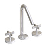 Metrohaus Lavatory Widespread Faucet with 45-Degree Swivel Spout and Pop-up Waste with Cross Handles - AlternativeRoute