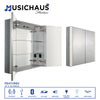 Musichaus Double Mirrored Door Medicine Cabinet with USB, SD Card, Bluetooth, FM radio, Speakers, Defogger, & Dimmer - AlternativeRoute