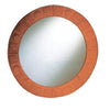 New Generation Large Round Mirror with Embossed Terra Cotta Border - AlternativeRoute