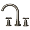 Luxe Widespread Lavatory Faucet with Tubular Swivel Spout, Cross Handles and Pop-up Waste - AlternativeRoute