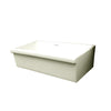 "Farmhaus Fireclay Quatro Alcove Large Reversible Sink with Decorative 2 ½"" Lip on One Side and 2"" Lip on the Opposite Side - AlternativeRoute"