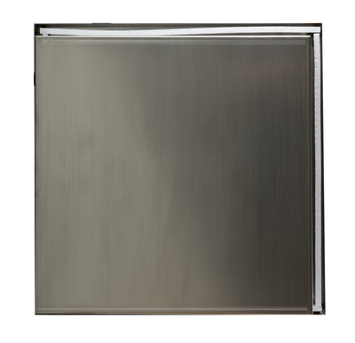 ALFI brand 16 x 16 Brushed Stainless Steel Square Single Shelf Bath Shower Niche - AlternativeRoute