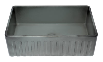 ALFI brand ABCO3320SB Concrete Color 33 inch Reversible Single Fireclay Farmhouse Kitchen Sink - AlternativeRoute