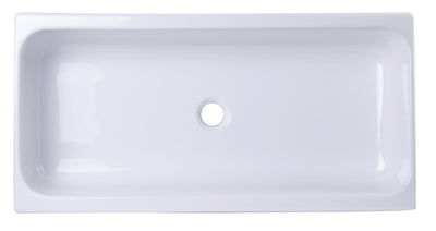 "ALFI brand AB36TR  36"" White Above Mount Fireclay Bath Trough Sink - AlternativeRoute"