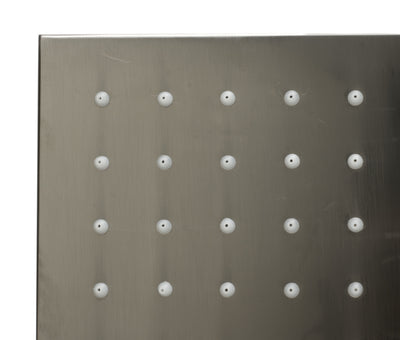 "ALFI brand LED16S-BN Brushed Nickel 16"" Square Multi Color LED Rain Shower Head - AlternativeRoute"