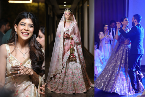 Whimsical Delhi Wedding With Bride Dressed In Stunning Outfits