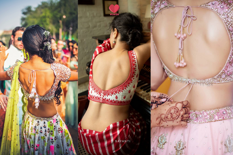31+ Sexy Backless Blouse Designs To Jazz Up Your Indian Outfit!