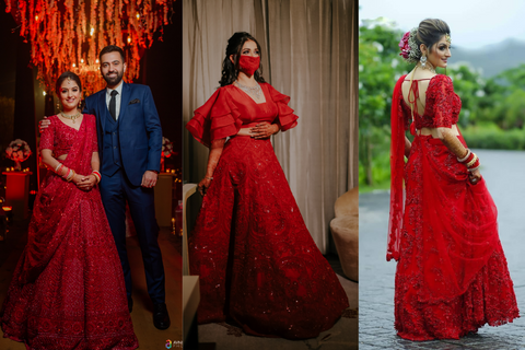Brides In Surreal Replicas Of Priyanka Chopra's Red Lehenga + Where To Buy Them!