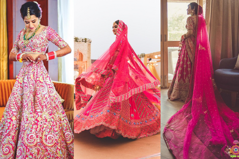 20 Brides In Hot Pink Lehengas Who Will Make You Re-Think Your Trousseau Choices!