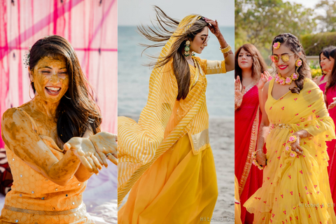 15 Gorgeous Haldi Outfits On Real Brides To Inspire You!