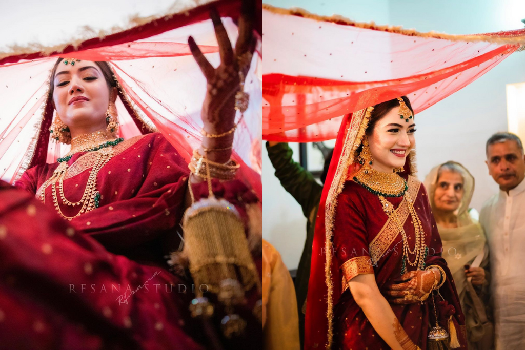 Beautiful & Enchanting Nikah Ceremony With Bride In A Red Saree!