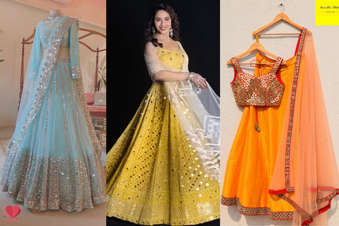 Get Your Dream Mirror Work Lehenga From These Designers!