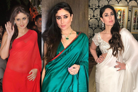 11 Times Kareena Kapoor Captured A Indian Woman's True Love For Saree!