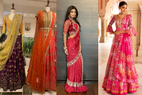 21 Karva Chauth Outfit Ideas For Newly Weds, With Prices & Links To Shop!
