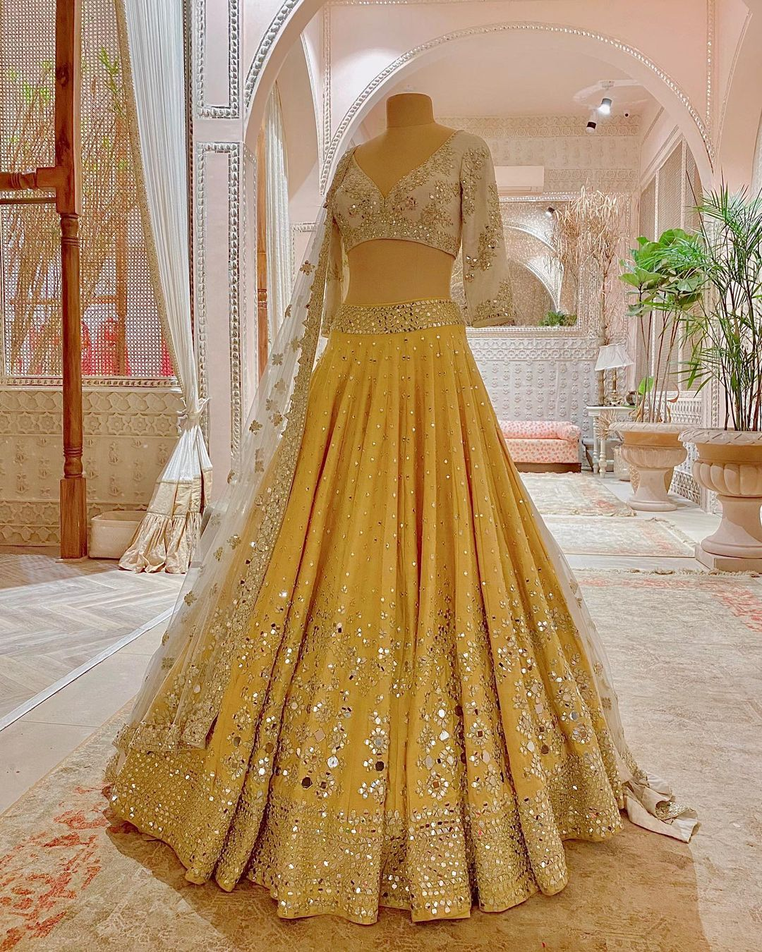 Mirror Work Lehenga By Abhinav Mishra