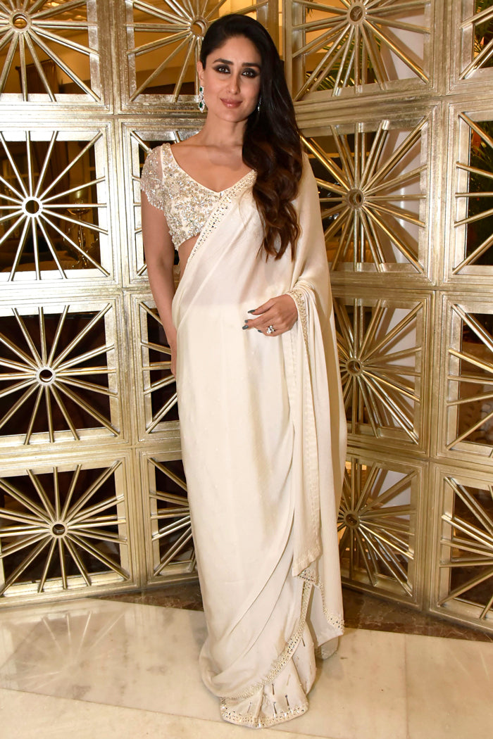 Kareena White Manish Malhotra Saree