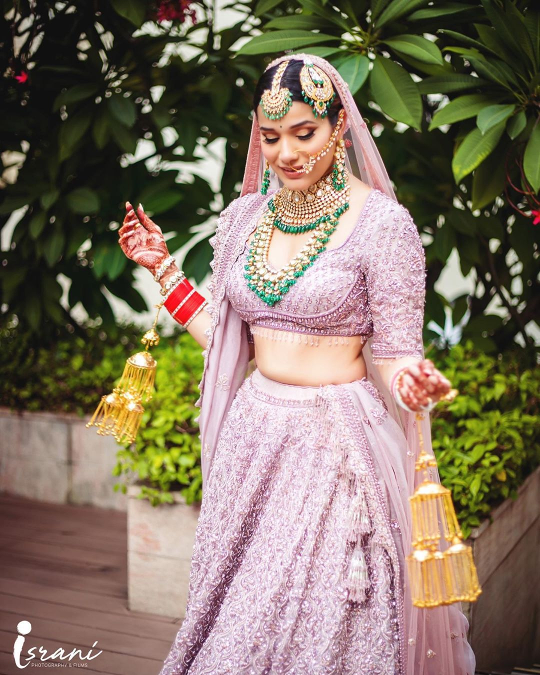 New Purple Lehenga Color