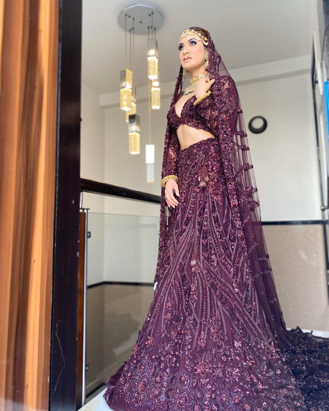 Purple Lehenga Color