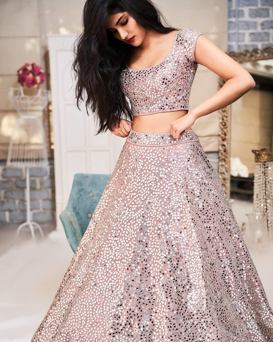 Mirror Work Lehenga Seema Khan