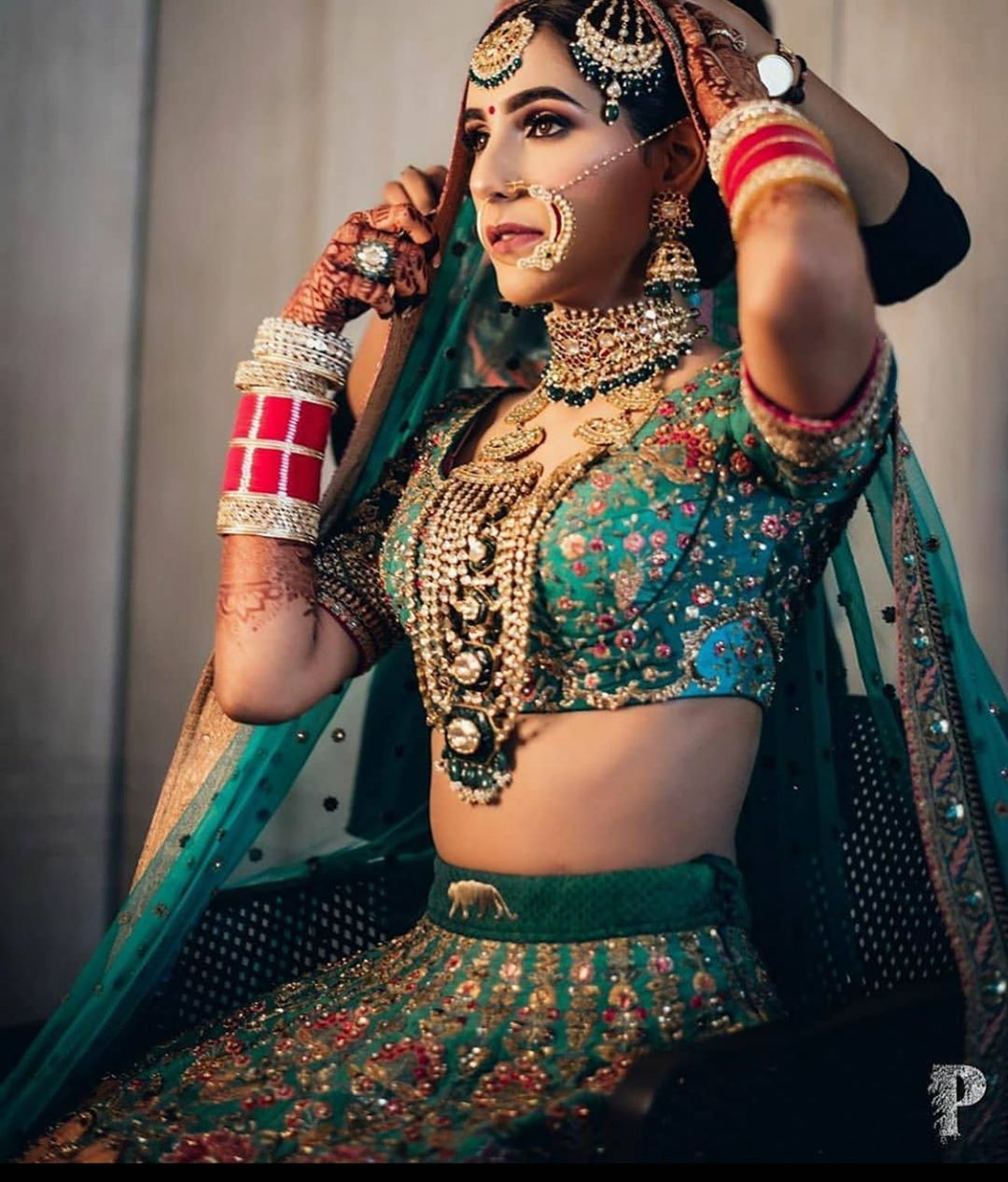 Teal Blue lehenga Brides