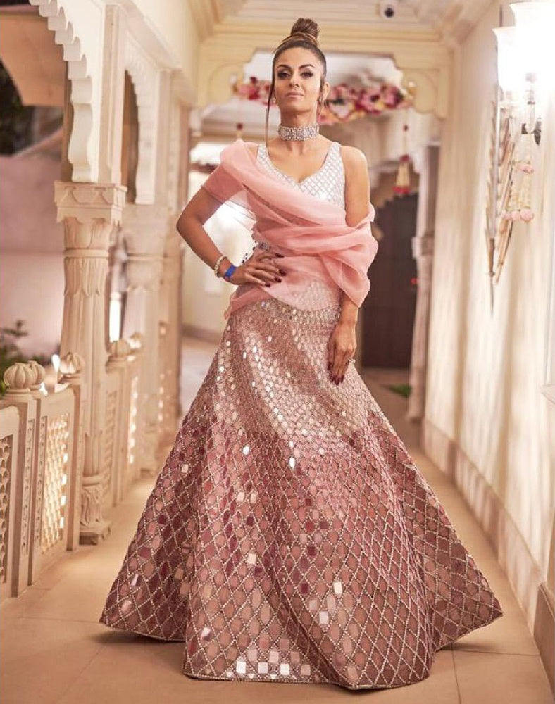 Mirror Work Lehenga Manish Malhotra