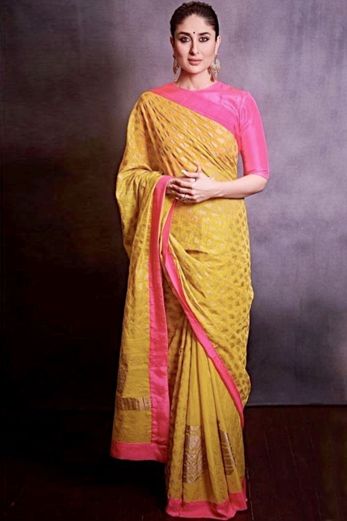 Kareena Yellow Saree