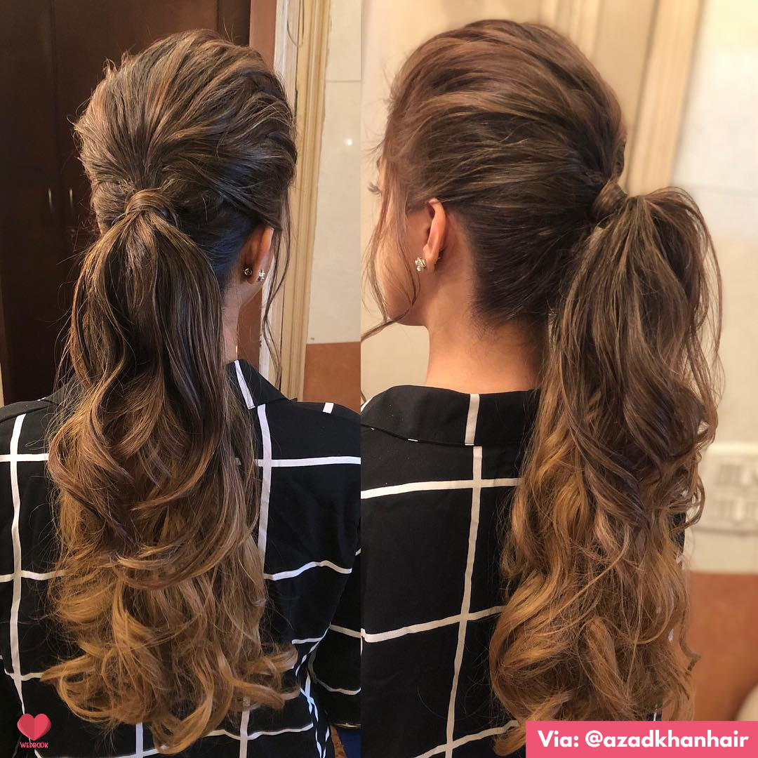 Ponytail Hairstyle For Indian Brides