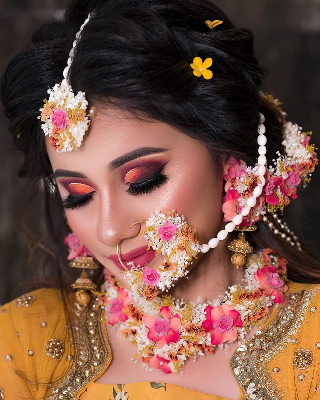 20 Unique & Stunning Floral Nath Designs To Wear For Your Wedding! - Wedbook