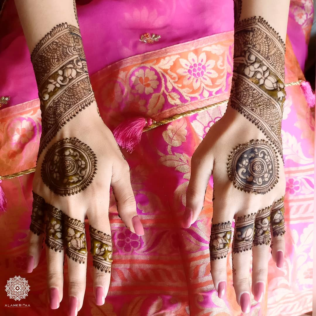 Mandala Mehendi for sister of the groom