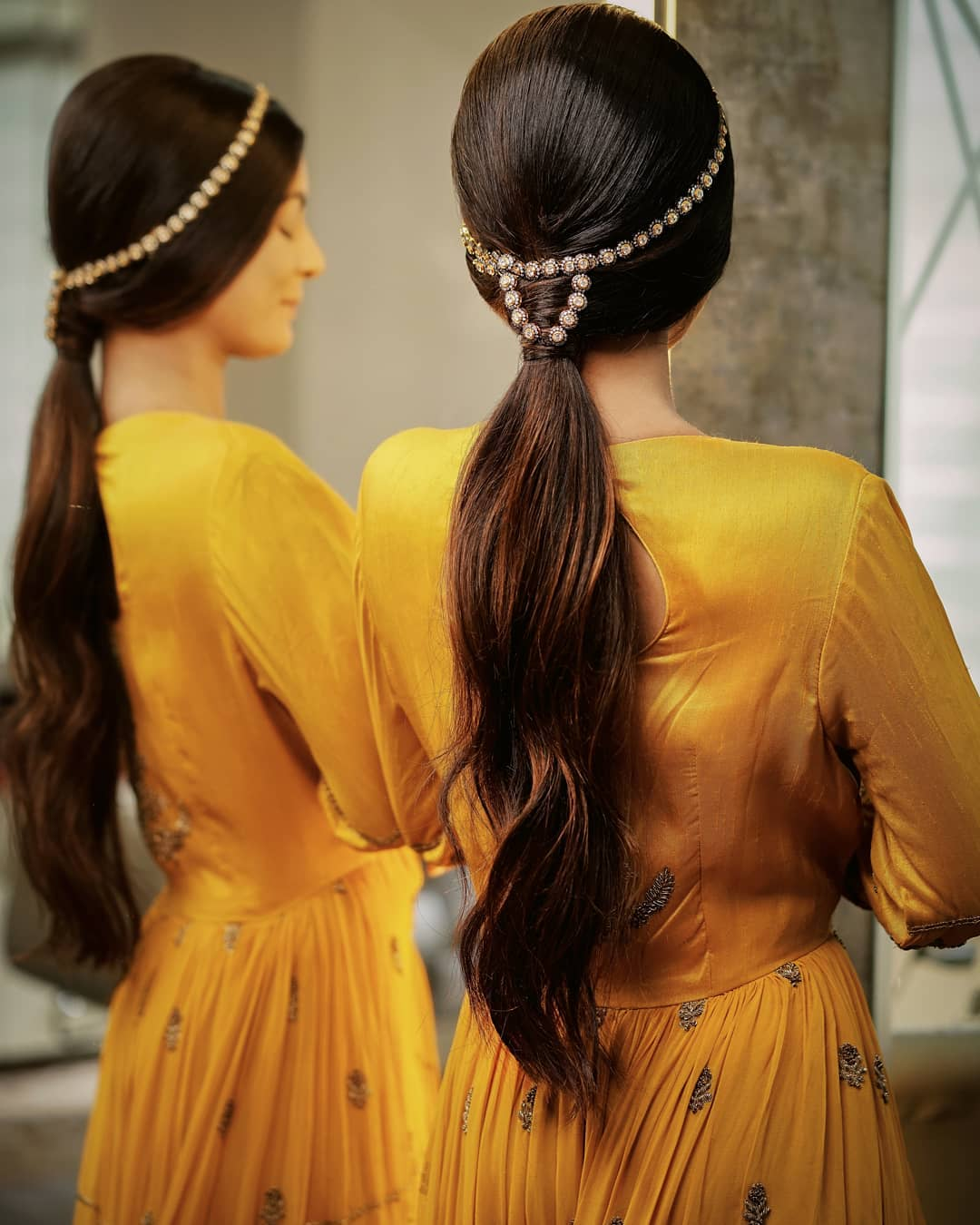 Puffy Ponytail Hairstyle Brides