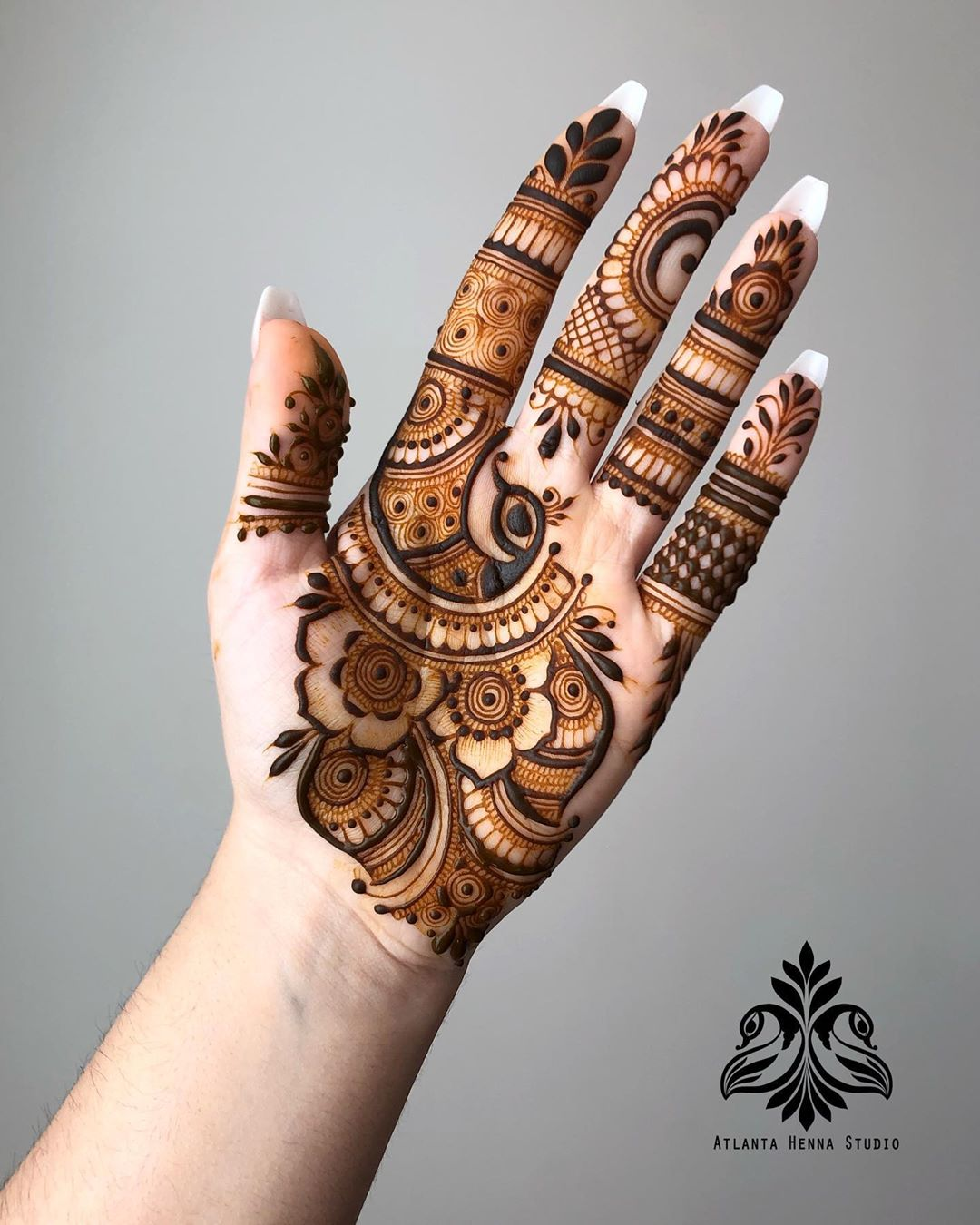 Simple Mehndi Design - Front Hands