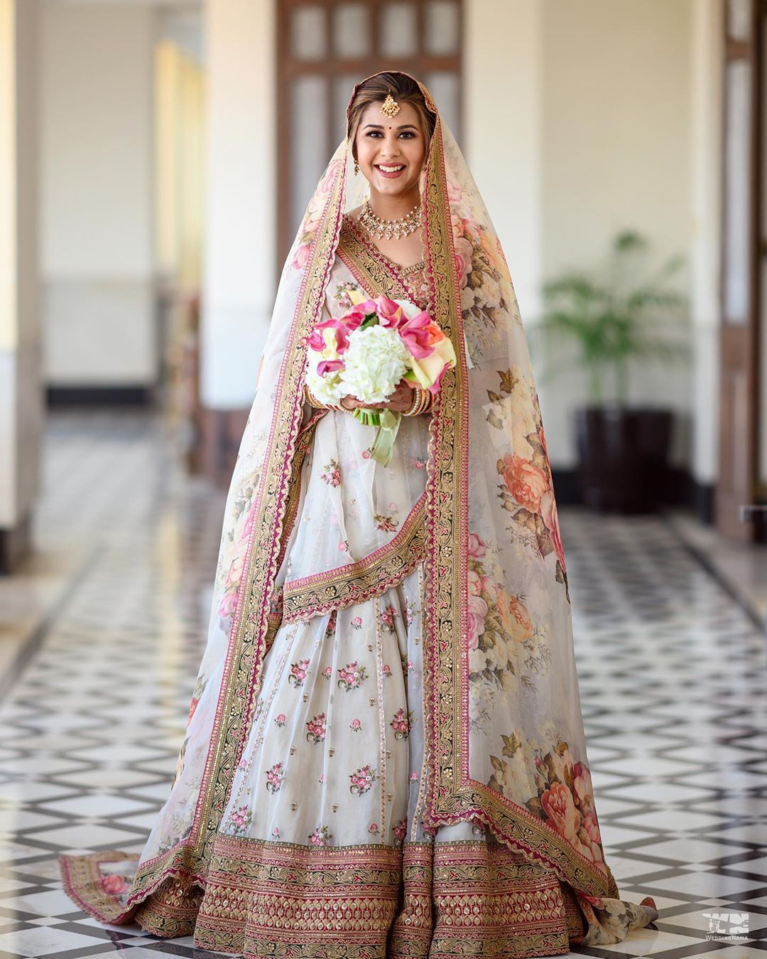 White Bridal Lehenga Combination