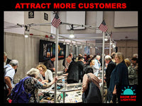 Best selling LED trade show lighting, craft show lighting & jewelry lighting