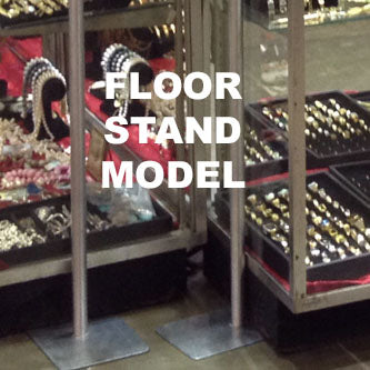 Perfect for floor model display cases