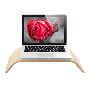 StandzUp Bamboo The Natural - Ergonomic Laptop & Monitor Stand