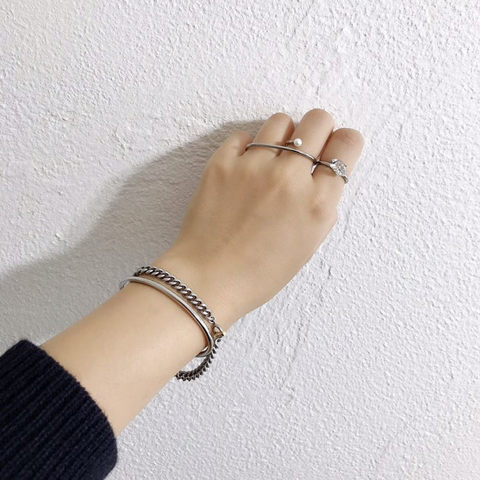 新作のご紹介!~connect curve chain bracelet~