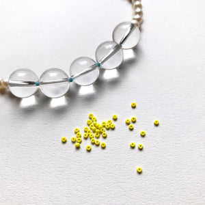 オーダー制作受付中!knot pearl & quartz necklace~polka dots~