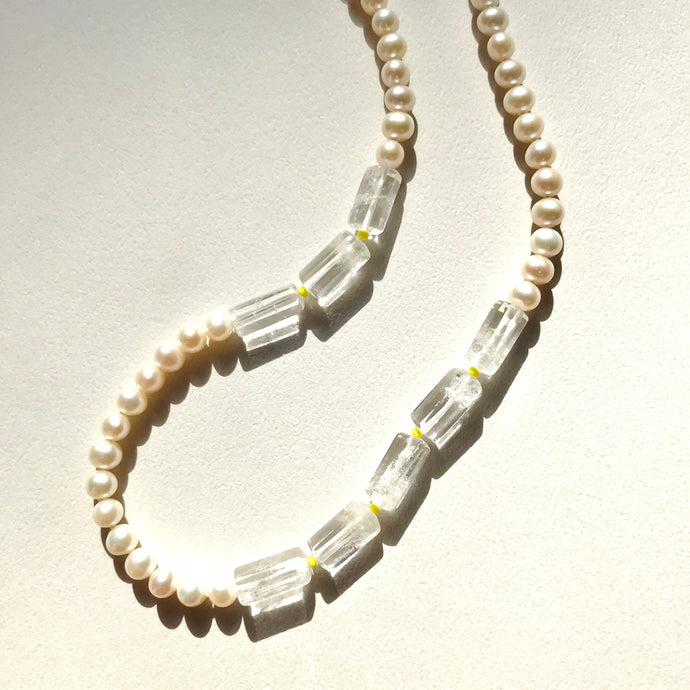 オーダー制作受付中!knot pear & quartz necklace~icicles~