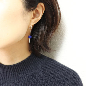 【no.29】ステンレス×ラピスラズリピアス~plus stainless pierced earrings lapis lazuli~