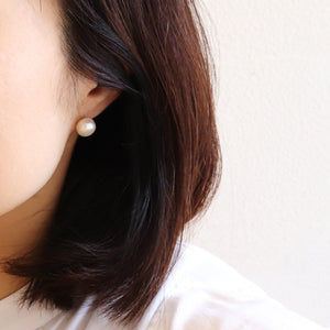 【no.29】ステンレス淡水パールピアス~plus pearl pierced earrings ~